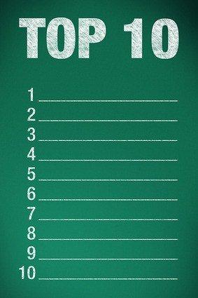 top 10 on green chalkboard