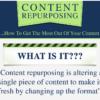 Infographic on content repurposing