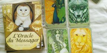 Oracle du Messager de Ravynne Phelan- Graine d'Eden la bibliothèque des cartes Oracle divinatoires, revue, review, présentation de Tarot et Oracle Divinatoires