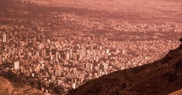 Teheran depuis le mont Elbourz