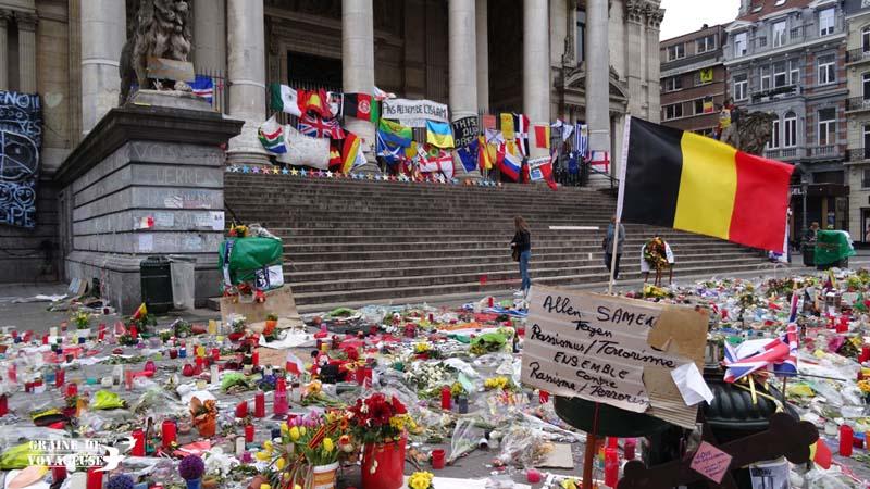 Place De La Bourse Attentats Bruxelles