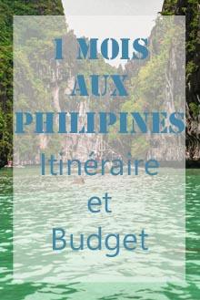 1 mois aux Philippines Itinéraire et budget