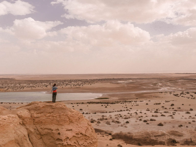 Désert de Fayoum en Egypte