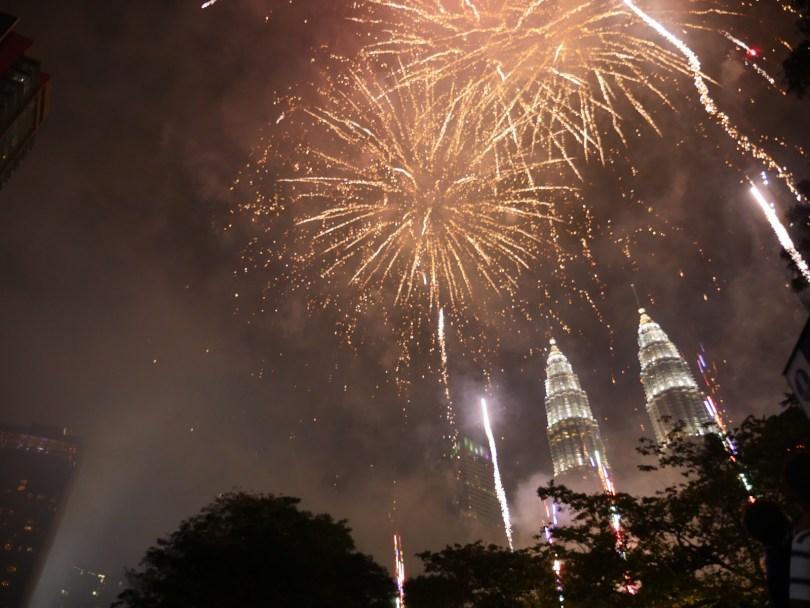 Feu d'artifice Kuala Lumpur nouvel an