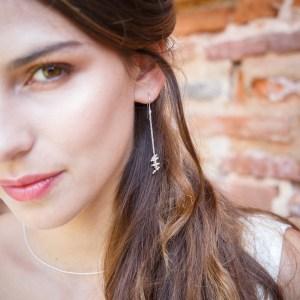 Boucles d'oreilles Grappa, argenté