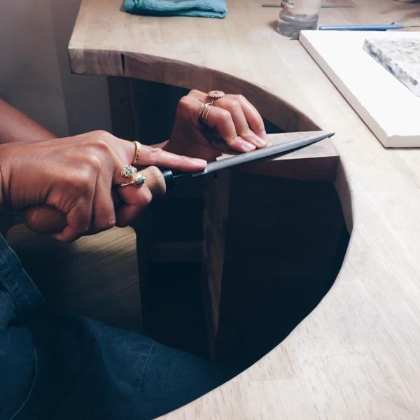 stage à l'établi d'un artisan bijoutier