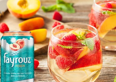 Sparkling Raspberries Mocktail