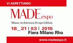 Partecipazione al Made Expo 2015, Pad.10 Stand F28