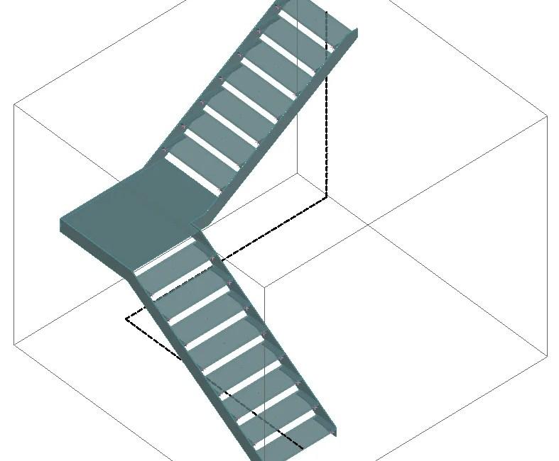 Stairs Railings Designer Graitec | L Shape Stair Design