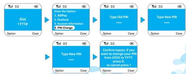 Billpay PIN changing process