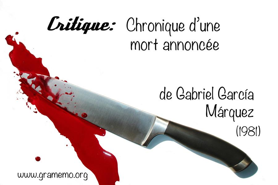 016 Critique Chronique d'une mort annoncee