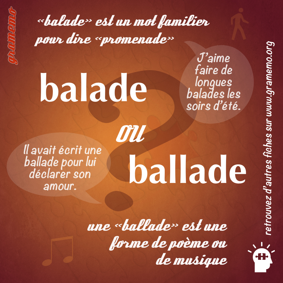 Balade ou ballade - Gramemo