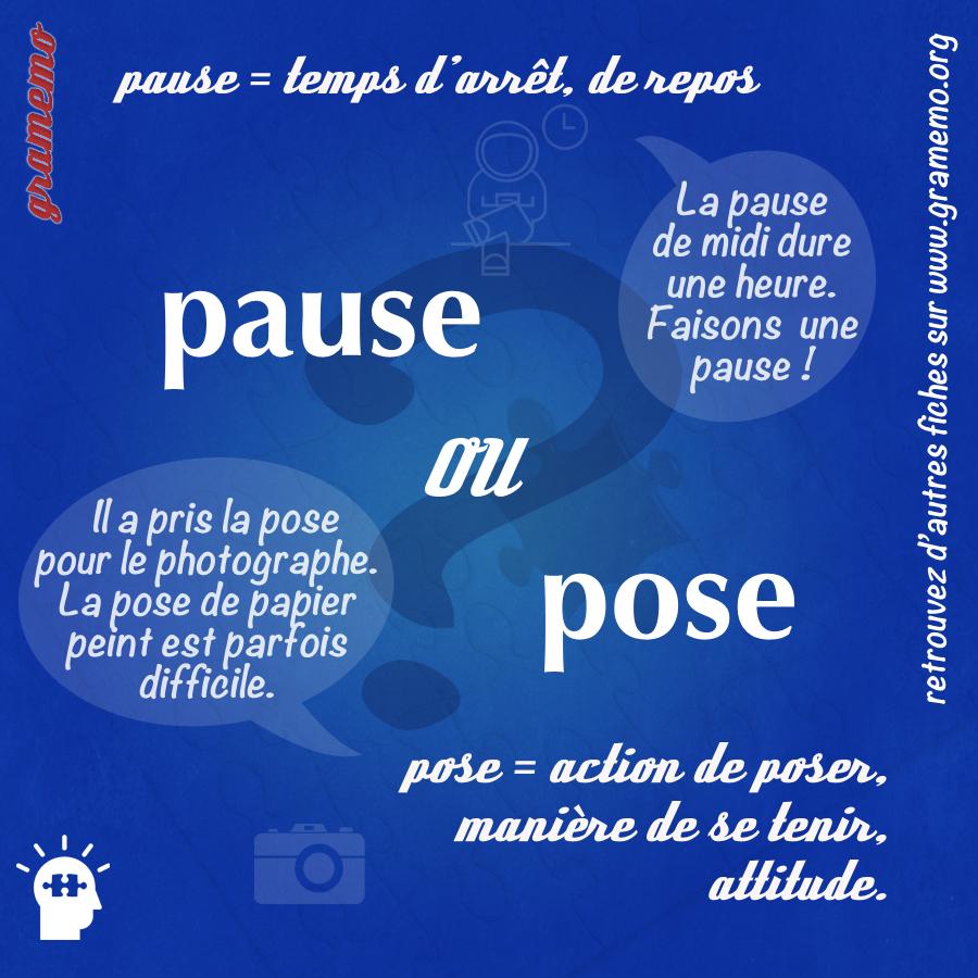 Pause ou pose - Gramemo