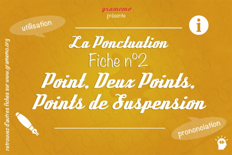 055 Ponctuation Point Deux points Points de suspension