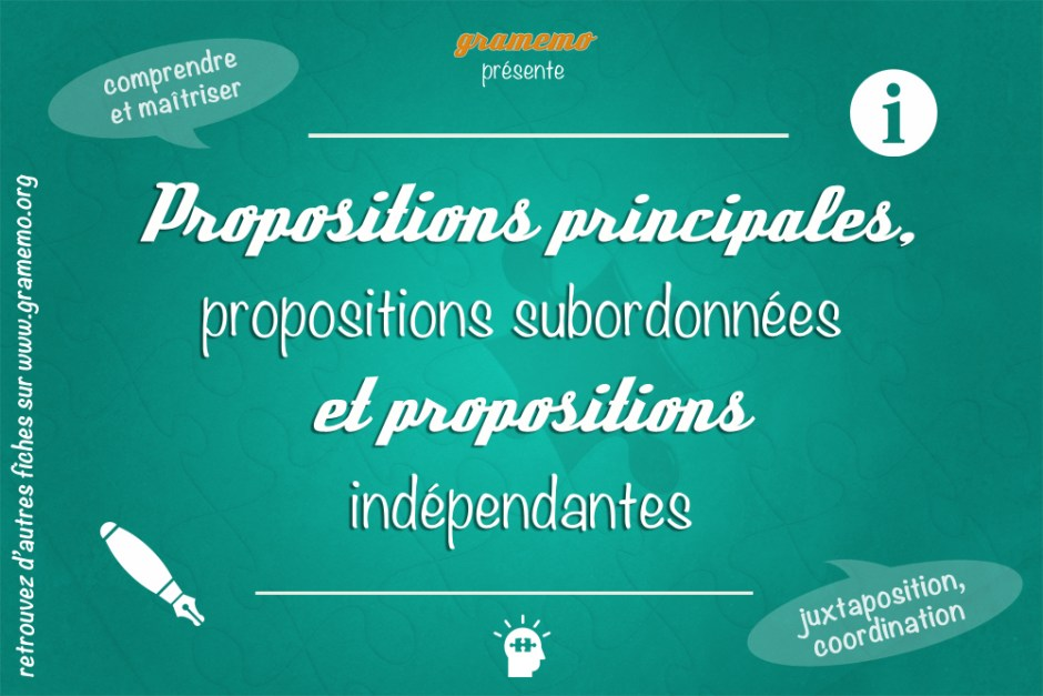 les propositions