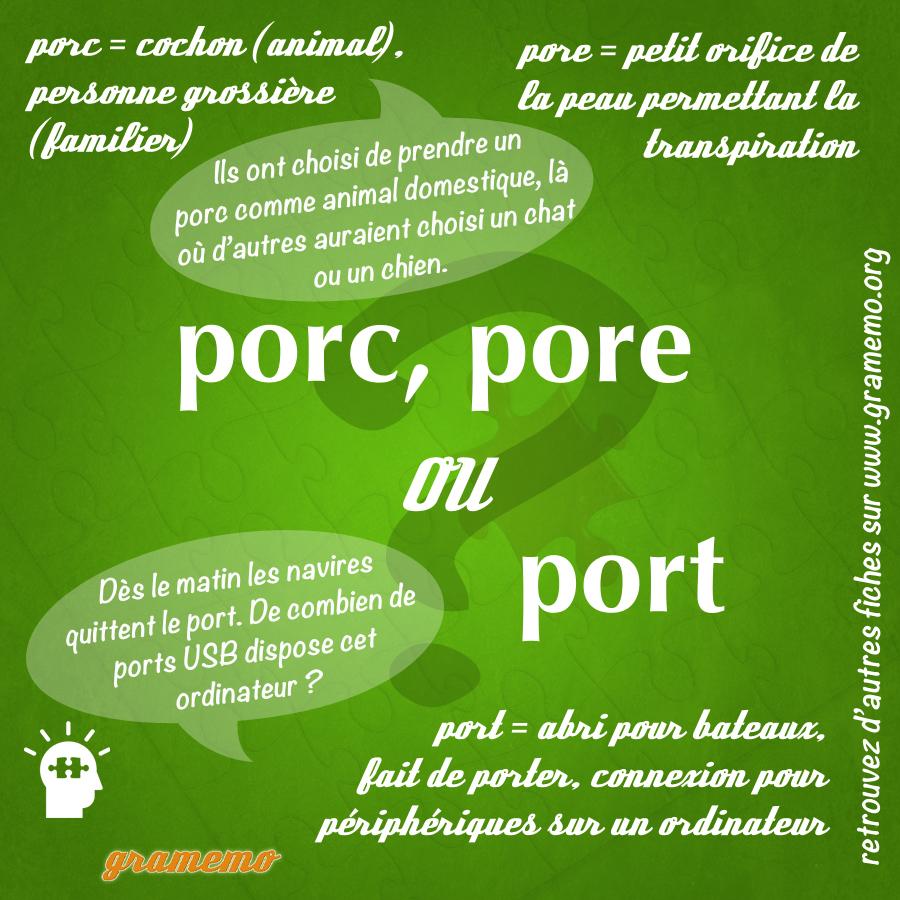 porc port pore