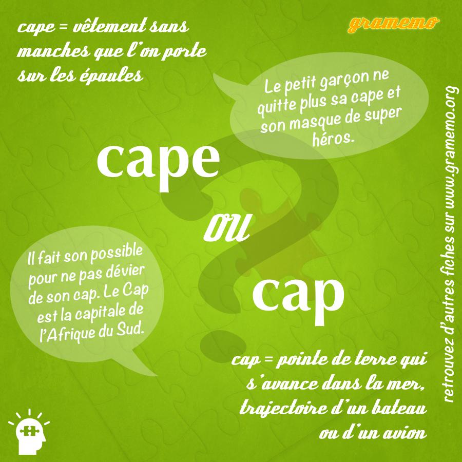 Cape ou cap - gramemo