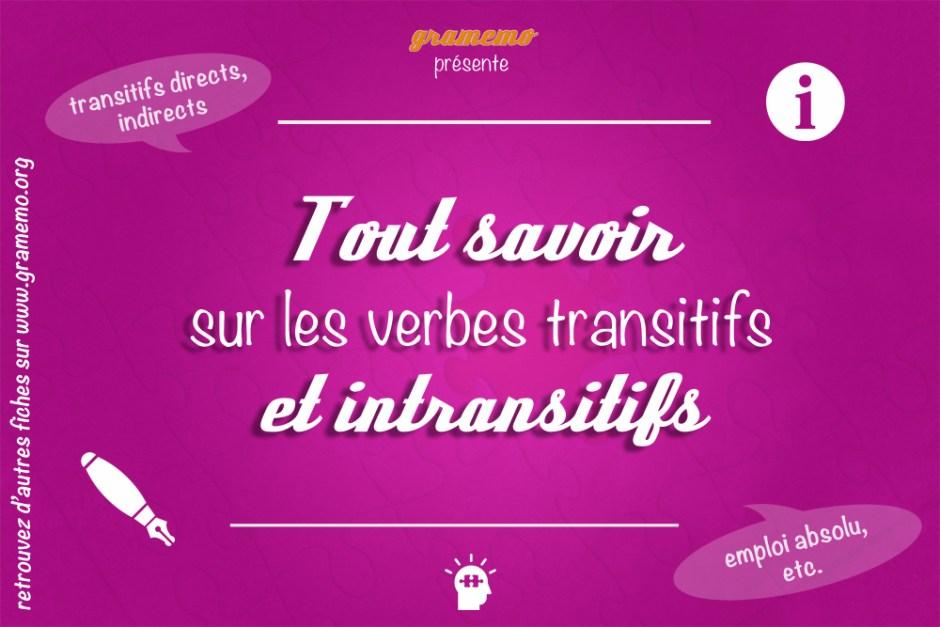 verbes transitifs et intransitifs gramemo