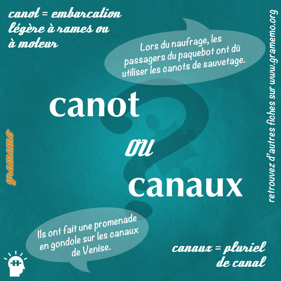 Canot ou canaux - Gramemo