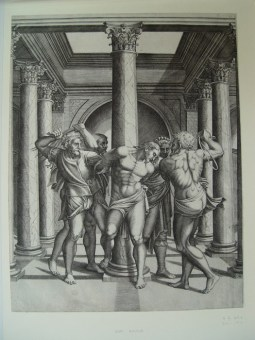 The Flagellation of Christ, After Michelangelo, print by Adamo Scultori, Italian, 1547-1587 ©The Trustees of the British Museum