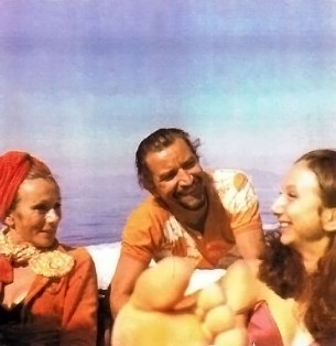 on-holiday-on-a-boat-with-my-mother-Zita-and-Maurice-Bejart-around-1969