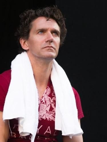 Gary Avis waiting to rehearse