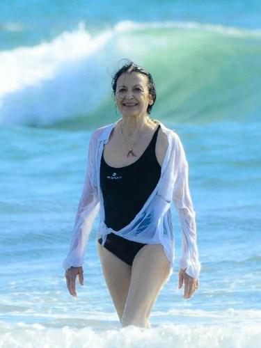 Carla Fracci at Forte dei Marmi