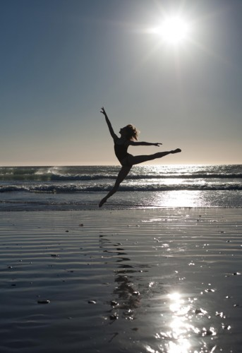 Daria Klimentova on the beach