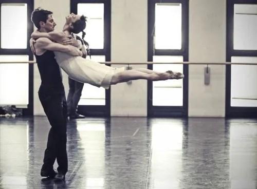 Mick Zeni & Sabrina Brazzo rehearsing L'altra metà del cielo