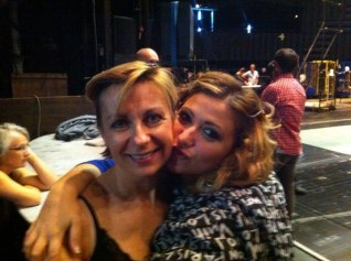 Desirée Rancatore backstage with Natalie Dessay