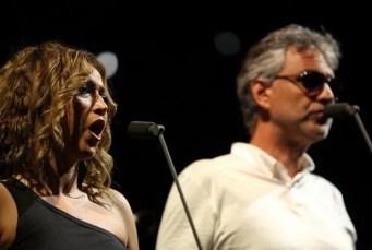 Desirée Rancatore with Andrea Bocelli