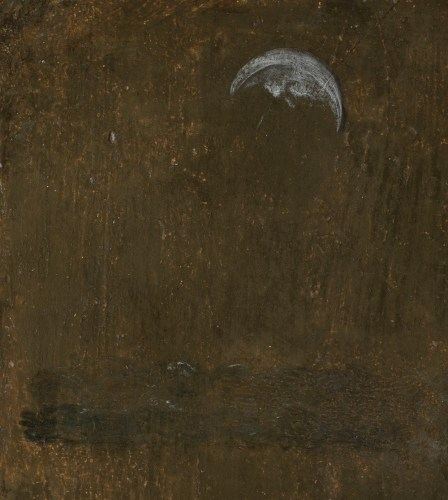 Detail of moon and newly discovered sea from top left of portrait