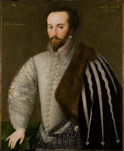 Sir Walter Ralegh by an unknown English artist, 1588