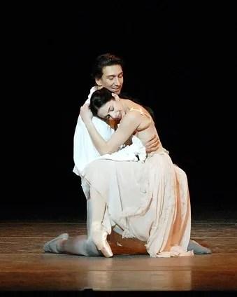 Alessandra Ferri and Julio Bocca in Manon - photo by Gene Schiavone