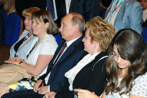 Vladimir Putin and his wife, Lyudmila Putin, at the ballet, just before announcing their divorce.