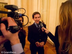 A young member of the audience interviewed by La Scala's Digital Department