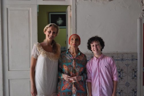 Maria Sascha Khan and Nicholas MacKay with Alicia Alonso in Cuba