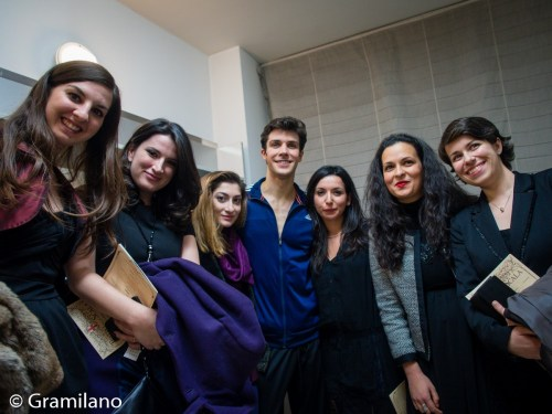 Roberto Bolle with the 6 competition winners