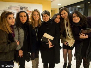 Silvia Farina of La Scala's Digital Department with the 6 competition winners