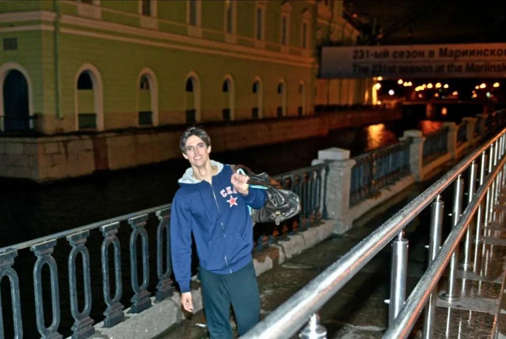 Xander Parish by the Mariinsky canal - photo by Valentin Baranovsky