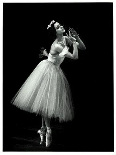 """Les Sylphides"" Ekaterina Maximova, Bolshoi Theatre, 1958. Photo Soloviev"