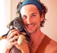 Mick Zeni and puppy