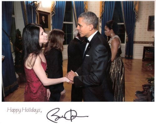 "President Barack Obama and Paloma Herrera  at the White House.  ""Kennedy Center Honors"" 2013."