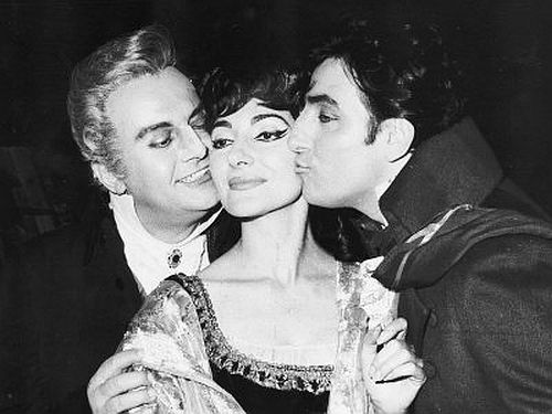 Tito Gobbi, Maria Callas and Renato Cioni - Tosca, London 1964