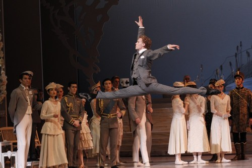 Adam Bull as Siegfried in Graeme Murphy's Swan Lake - photo Jeff Busby