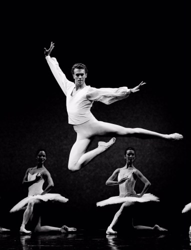 Adam Bull in Harald Lander's Etudes - photo Jeff Busby