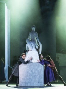 Edward Watson as Leontes, Lauren Cuthbertson as Hermione and Federico Bonelli as Polixenes in The Winter's Tale