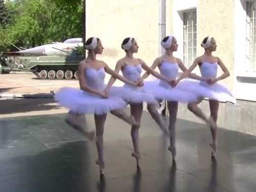 Swan Lake for Putin in Odessa 2