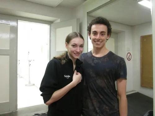 Zach Rogers with Olga Smirnova