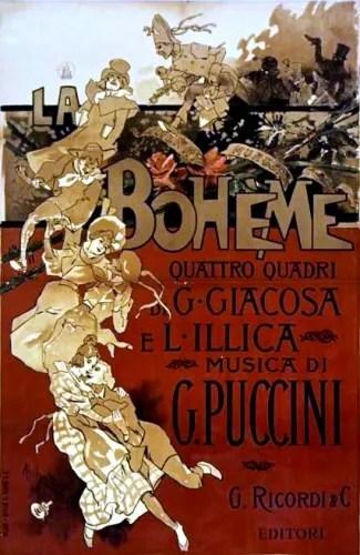 La Boheme score cover